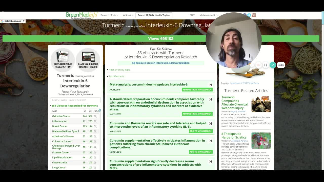 GreenMedInfo: The World's Largest Turmeric Database